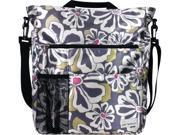 Amy Michelle Lexington Diaper Bag (Charcoal Floral)