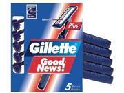 Gillette Good News Plus Disposable Razors 5-Count