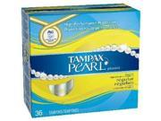 Tampax Pearl Plastic, Regular Absorbency, Unscented Tampons, 36 Count