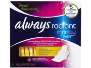 Always Fresh Infinity Radiant Regular With Wings, 16 Ct (pack Of 12)