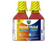Vicks Flu Nighttime Relief Liquid Convenience Pack, 2 X 12 Fl Oz