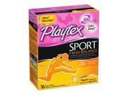 Playtex Sport Fresh Balance Tampons, Regular Scented, 16 Count