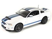2013 Ford Shelby GT500 1/18 White w/ Blue stripes