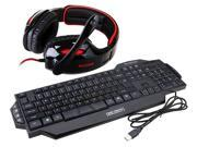 Sades Over Ear Surround Sound PC Gaming Headset & Music Headset w/ Mic+ORICO GK800 Multimedia USB Wired Gaming Keyboard