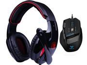Professional USB Wired Optical 7D 7 Buttons 2000DPI Gaming Mouse Mice+Bluedio R+Sades Over Ear Surround Sound PC Gaming Headset & Music Headset w/ Mic