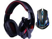 E-Blue Mazer II AVAGO chip 2500 DPI Blue LED 2.4GHz Wireless Optical Pro Gaming Mouse+Bluedio R+Sades Over Ear Surround Sound PC Gaming Headset & Music Headset w/ Mic