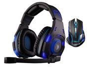 E-Blue Mazer II AVAGO chip 2500 DPI Blue LED 2.4GHz Wireless Optical Pro Gaming Mouse+Sades SA-907 Over Ear Stereo 7.1 Surround Sound PC Gaming Headset & Music Headset