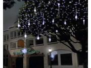 11.8 inch 8 Tube 144 LEDs Meteor Shower Rain Lights Waterproof String Light for Party  – White