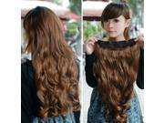 """24""""Long Full head clip in Synthetic hair extensions human made hair light brown"""
