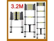 Aluminum Telescoping ladder Portable/Extension Ladder 3.2M 10.5FT 11-step 330Lbs