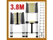 Aluminum Telescoping ladder Portable/Extension Ladder 3.8M 12.5FT 13-step 150kg/330Lbs