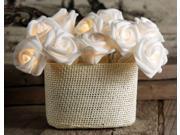 AGPtek 20 Led Handmade Fabric Rose String Flower Light  Decorative Rose Light for Christmas Wedding Bedroom Party _White