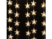 AGPTEK 1Mx1.5M 54LED Star Light Christmas Xmas Party String Light Wedding Curtain Light Home Decoration  Luz Warm White