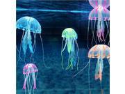"5pcs/Set 5.5"" Artificial Glowing Effect Fish Tank Decoration Aquarium Jellyfish Ornament"