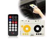 AGPtek Play Car Kit Telecontrol Tape Cassette Car MP3 Player USB Charger SD MMC Adapter with Remote Earphone