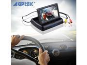 AGPtek 4.3 Inch Foldable Color LCD TFT Car Highlight Screen Rearview Monitor Screen Car Backup Camera for Car DVD, VCD, GPS, Cameras
