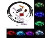 7 Colors LED Under Car Glow Neon Lights Strip Kit