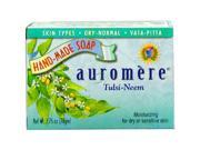 Soap-Tulsi-Neem - Auromere Ayurvedic Products - 2.75 oz. - Bar Soap