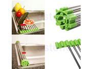 Stainless Steel Silver Colander Drying Tray / Rack for Fruits, Vegetables, Meat