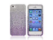 Apple Iphone 5 Bling Hard Plastic Case Snap On Cover - Purple/ Lavender Waterfall On Silver Gems