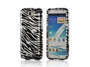 Silver Zebra Snap On Cover Protector Case for Samsung Galaxy Note 2, Note II