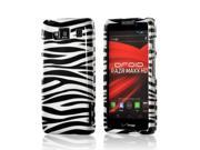 Black/ White Zebra Hard Plastic Case Snap On Cover For Motorola Droid RAZR MAXX HD