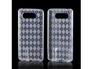 Clear Argyle Crystal Rubbery Feel Silicone Skin Case Cover For Nokia Lumia 820