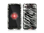 Slim & Protective Hard Case for Motorola Droid Ultra / MAXX - Silver / Black Zebra