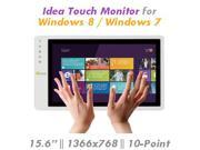 "GeChic  On-Lap 1502T 15.6""1366x768 HD Panel 10-point Projected Capacitive Touchscreen USB-powered Monitor