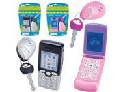 PlayPhone Flip Cell Phone and Key Alarm - Pink