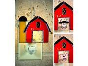 SWITCHABLES SW-134 - ANIMAL BARN Stained Glass Night Light Cover - Night Light Fixture Sold Separately