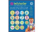 Belly Banter BABY UNISEX Bodysuit Stickers Includes 12 month stickers plus 3 BONUS statement stickers