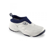 Propet Men's M3851 Wash & Wear Slip-on,White/Navy,11 M (US Men's 11 D)