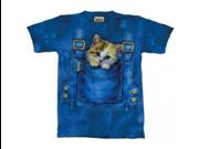 The Mountain Kitty Overalls Kitten Cat Tee T-shirt Child L