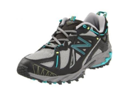New Balance Women's WT610 Trail Running Shoe,Grey/Teal,6 D US