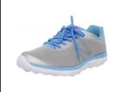 New Balance Women's WW695 Walking Shoe,Silver/Blue,6 B US