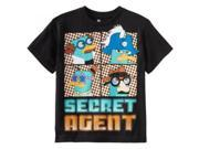 Phineas & Ferb Boys 8-20 Pop Agent Shirt, Black, X-Large