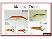 Akuna Pack of 5 Lures for Lake Trout fishing in each of the 50 states