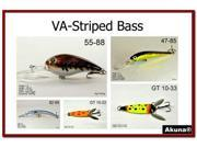Akuna Pack of 5 Lures for Striped Bass fishing in each of the 50 states