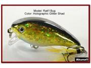 "[FLA 52] 2.2"" Hand-Painted Holographic Crankbait Fishing w/ Matching Feather Tails Choice Of Colors"