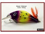 "Akuna Glittertail 3"" Crankbait Fishing Lure"