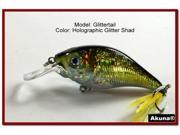 "Akuna Glittertail 3"" Crankbait Fishing Lure"