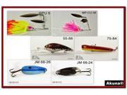 Akuna Pack of 6 Crankbait Lures for Bass fishing in each of the 50 states