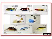 Akuna Pack of 8 Crankbait Lures for Bass fishing in each of the 50 states
