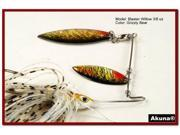 Akuna Blaster Willow Holographic Twin Blades Spinnerbait, various sizes and colors