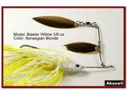 Akuna Blaster Willow Twin Blades Spinnerbait, various sizes and colors