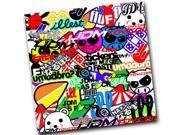"(1) 12"" x 12"" iJDMTOY Graffiti JDM illest Hellaflush Dope Shocker Hand Fatlace Decal Sticker"