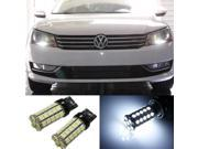 iJDMTOY (2) HID Match White 42-SMD LED Bulbs for 2012-up Volkswagen Passat Daytime Running Lights