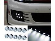 iJDMTOY 10W High Power 10-LED LEDayFlex Style Flexible Free Style LED Daytime Running Light Kit, Xenon White