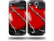 Barbwire Heart Red - Decal Style Skin (fits Samsung Galaxy S IV S4)